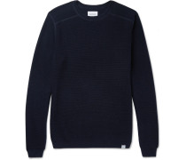 Lauge Slim-fit Waffle-knit Wool And Cotton-blend Sweater