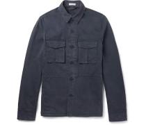 Slim-fit Washed Brushed Stretch-cotton Jacket