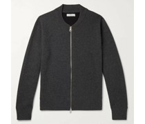 Double-Faced Cashmere Zip-Up Sweater