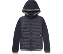 Maglia Fleece-back Cotton-jersey And Shell Down Jacket