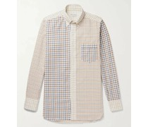 + Drake's Button-Down Collar Checked Cotton and Wool-Blend Shirt