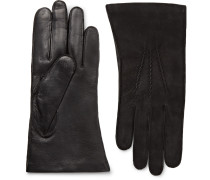 Warwick Cashmere-lined Suede And Leather Gloves