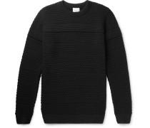 Minder Textured-knit Wool Sweater