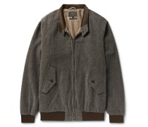 Checked Cotton-Blend Chenille Jacket