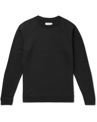 Rivet Loopback Cotton-Jersey Sweatshirt