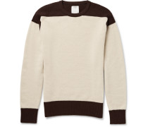 Isles Two-tone Wool And Cashmere-blend Sweater