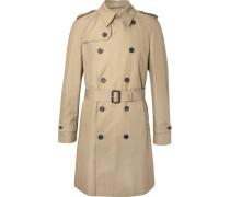 Cotton-blend Gabardine Trench Coat