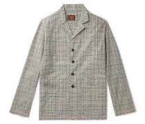 Checked Organic Cotton-Twill Blazer