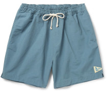 Mid-length Cotton-blend Faille Swim Shorts