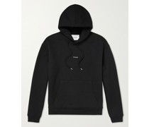 Logo-Print Fleece-Back Cotton-Blend Jersey Hoodie