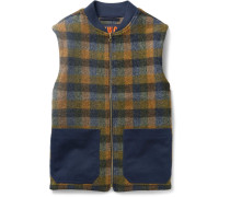 Checked Wool Gilet