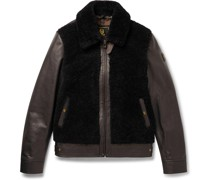 Grizzly Shearling-Trimmed Padded Leather Jacket