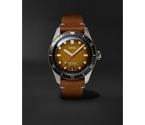 Divers Sixty-Five Automatic 40mm Bronze, Stainless Steel and Leather Watch, Ref. No. 01 733 7707 4356-07 5 20 45