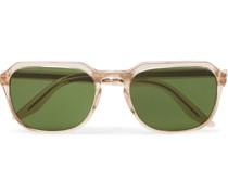 Haskel Sun Square-Frame Acetate Sunglasses