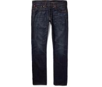 Slim-fit Washed Selvedge Denim Jeans