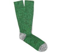 Mélange Cotton-blend Socks