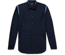 Slim-fit Contrast-trimmed Cotton-poplin Shirt