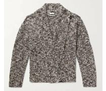 Sean Shawl-Collar Wool-Blend Bouclé Cardigan