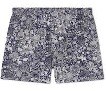 Paisley-Print Stretch-Jersey Boxer Shorts