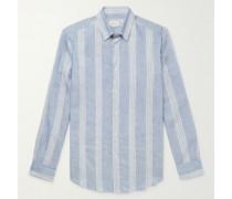 Striped Linen and Cotton-Blend Shirt