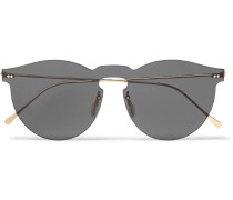 Leonard Round-frame Gold-tone Sunglasses