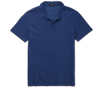 Willem Slim-fit Open-collar Cotton-jersey Polo Shirt