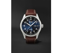 Big Crown ProPilot Big Day Date Automatic 44mm Stainless Steel and Leather Watch, Ref. No. 01 752 7760 4065-07 5 22 07LC