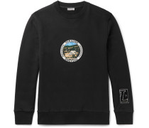 Paradise Appliquéd Loopback Cotton-jersey Sweatshirt