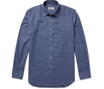 Slim-fit Buffalo Checked Cotton-flannel Shirt