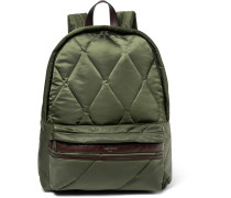 Benton Leather-trimmed Quilted Shell Backpack