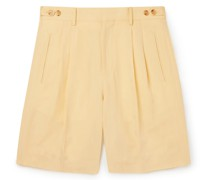 Richard Pleated Woven Shorts