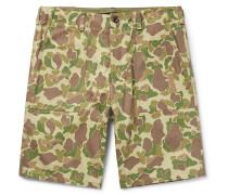 Camouflage-print Cotton-canvas Shorts