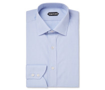 Blue Slim-fit Cotton Shirt