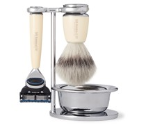 Fusion Chrome and Resin Four-Piece Shaving Set