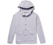 Smock Cotton-twill Hooded Jacket