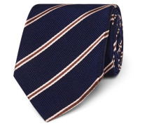 + Drake's 8.5cm Striped Silk And Cotton-blend Faille Tie