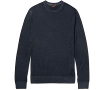 Slim-fit Washed Merino Wool Sweater