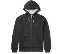 Fleece-back Cotton-blend Zip-up Hoodie