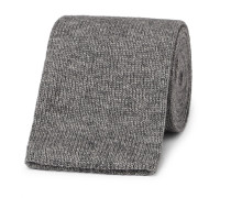 6.5cm Knitted Mélange Cotton Tie
