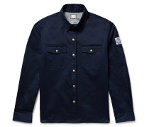 Elbow Patch Cotton-twill Overshirt