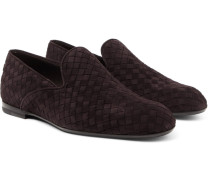 Intrecciato Suede Slippers