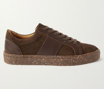 Larry Leather-Panelled Re-Suede Sneakers