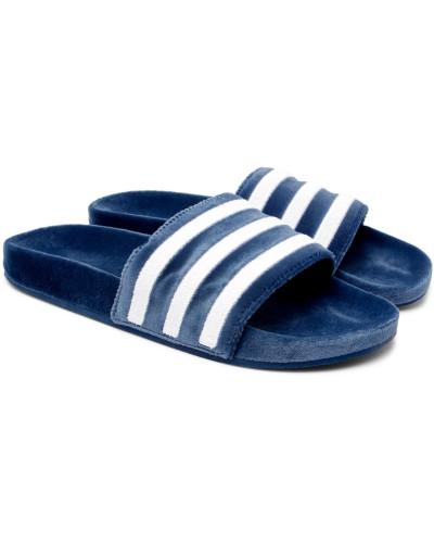 adidas Herren Adilette Striped Velvet Slides