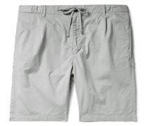 Pleated Cotton Drawstring Shorts