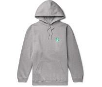 Oversized Logo-Print Fleece-Back Cotton-Jersey Hoodie