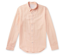 Tomlin Slim-Fit Button-Down Collar Linen, Cotton and Lyocell-Blend Shirt