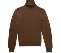 Slim-Fit Silk and Wool-Blend Rollneck Sweater
