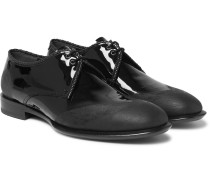 Distressed Patent-leather Derby Shoes