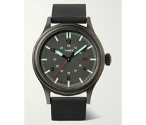 Allied 40mm Gunmetal-Tone and Silicone Watch