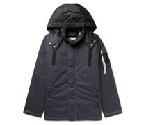1 Moncler JW Anderson Logo-Appliquéd Shell-Trimmed Cotton Down Hooded Jacket